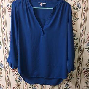 Blue dressy blouse